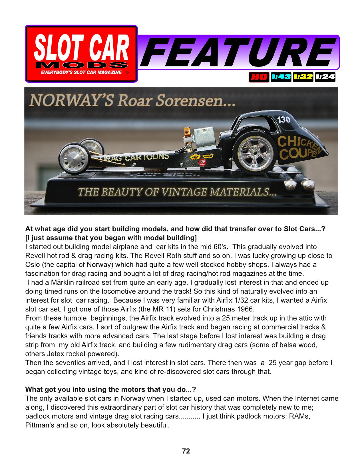 Slot Car Mods Magazine welcomes you